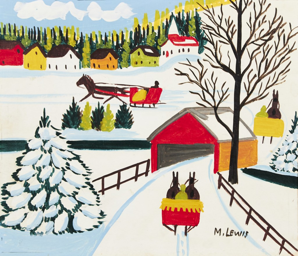 Maud Lewis, Winter Sleigh Ride - Price Realized $5,520
