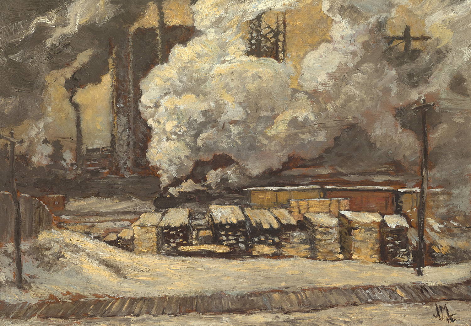 J.E.H. MacDonald, Tracks And Traffic, 1912