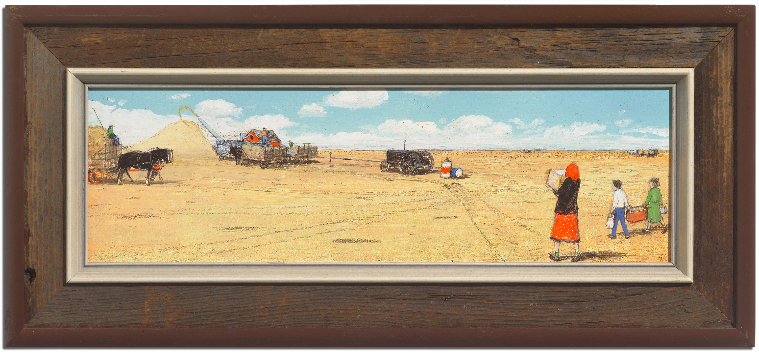 William Kurelek, Threshing Outfit Being Brought Lunch (1972)